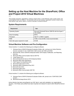 the Virtual Machine - Center