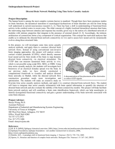 Directed Brain Network Modeling Using Time Series Casualty Analysis