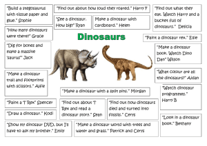 Click here to see the children`s brainstorm for dinosaurs topic