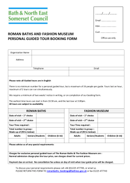 roman baths and fashion museum personal guided tour booking form