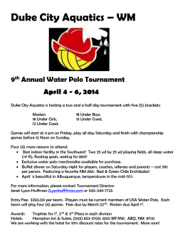 2014 Duke Tournament Flyer