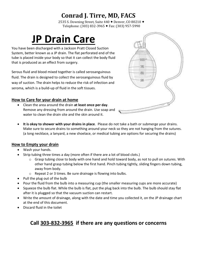 How to Care for (Jackson Pratt) JP Drains recommendations