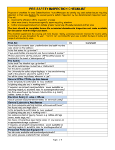 Pre-Inspection Checklist (Safety Monitors) (MS