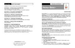 SDS Sheet Hema-Benz 10 ml Bottle