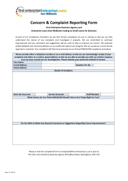 Concern & Complaint Reporting Form