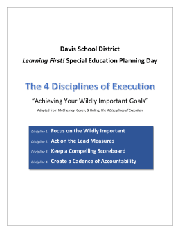 Act on Lead Measures - Davis School District
