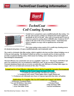 Technicoat Coating Information