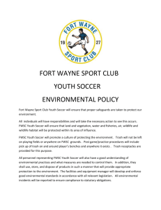 environmental policy - Fort Wayne Sport Club