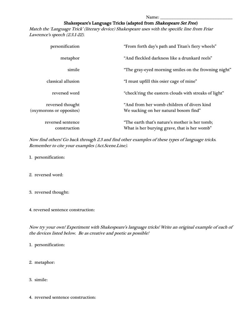 Shakespeares Language Tricks