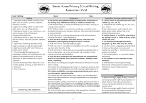 Swain House Primary School Writing Assessment Grid Band 5