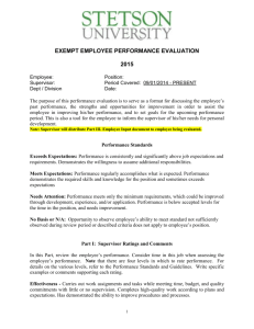 Performance Evaluation Form (exempt employees)