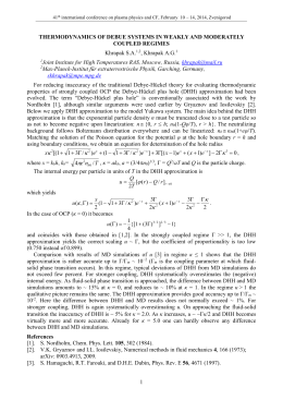 Thermodynamics of Debue systems in weakly and moderately