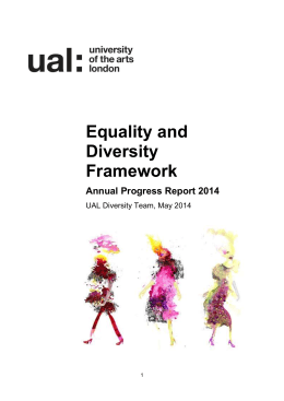 Annual Progress Report 2014 - University of the Arts London