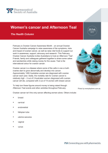 Women\`s cancer and Afternoon Teal