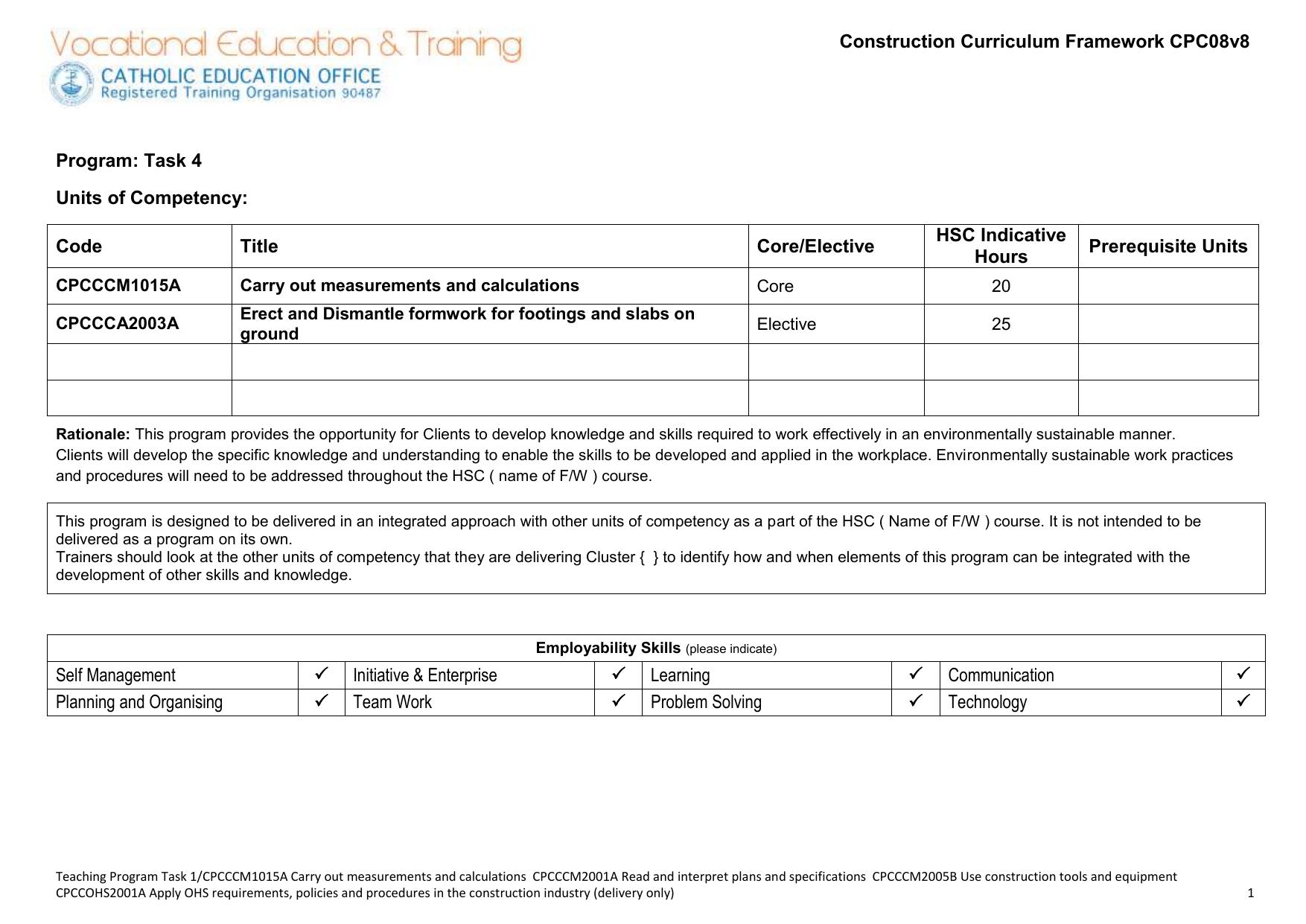 Teaching Program Task 4
