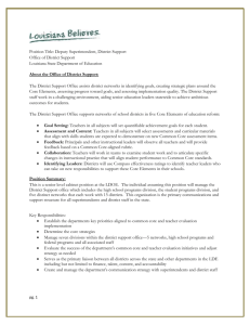 Louisiana Department of Education Job Description
