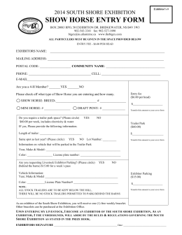 show horse entry form - South Shore Exhibition