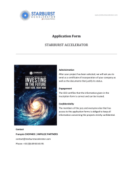Application Form - Starburst Accelerator