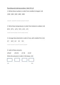 Rounding and ordering numbers L3, L4, L5 questions