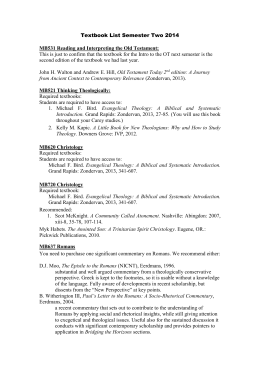 Textbook List Semester Two 2014