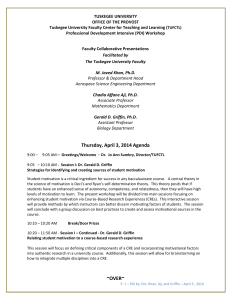Thursday, April 3, 2014 Agenda