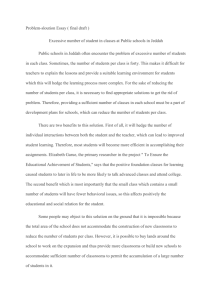 Problem-sloution Essay