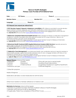 PCP Referral form