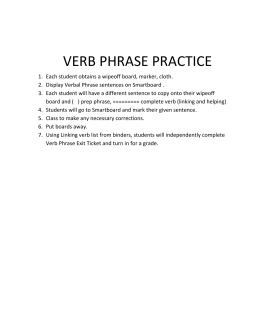 Verb Phrase Practice to-do
