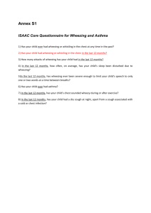 ISAAC Core Questionnaire for Wheezing and Asthma