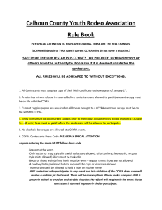 Calhoun County Youth Rodeo Association Rule Book