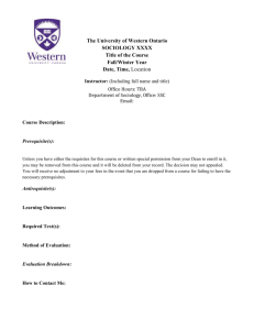 Course outline template - University of Western Ontario