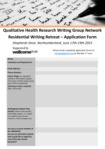 QHRWGN writing retreat app form