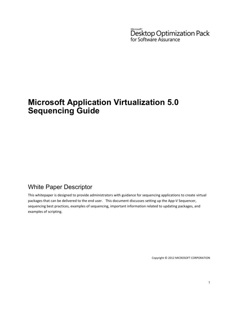 App-v install guide.