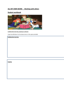 ALL MY OWN WORK - working with others worksheet