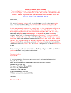 Parent Notification Letter Template