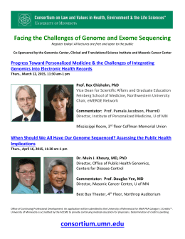 Facing the Challenges of Genome and Exome Sequencing