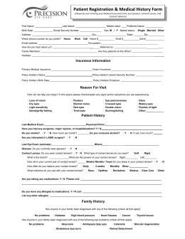 Patient Registration and Medical History Form