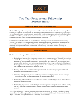 Two Year Postdoctoral Fellowship