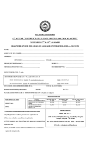 REGISTRATION FORM 47th ANNUAL CONFERENCE OF U.P.