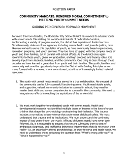 Position Paper - ACT Rochester
