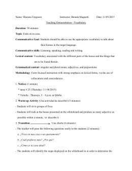 Lesson Plan Ferguson Vocabulario
