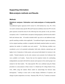 Estimation and meta-analyses of study-specific ORs