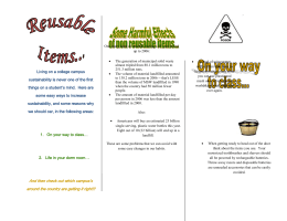 Reusable Items Pamphlet