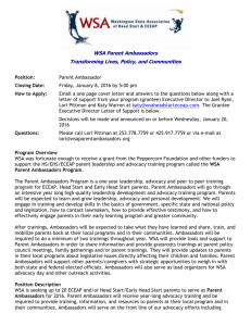 Memorandum - Washington State Association of Head Start & ECEAP