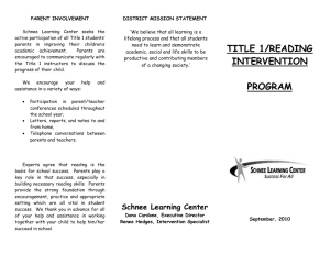 Title I Brochure - Cuyahoga Falls City School District