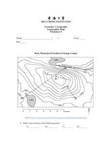 Topographic Map Worksheet 5