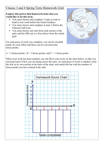 Classes 3 and 4 Spring Term Homework Grid