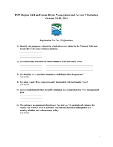 10-question pre-test - River Management Society