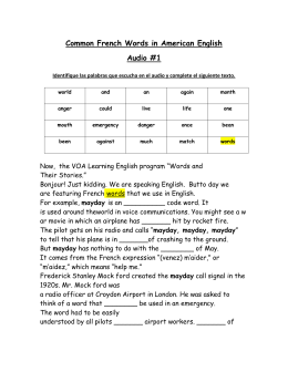 (A) Common French Words In American English (Activity)