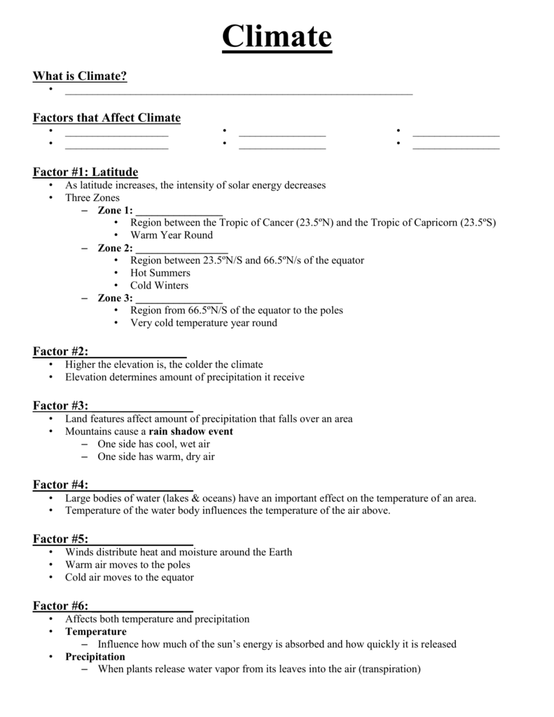 4 1 climate worksheet answers